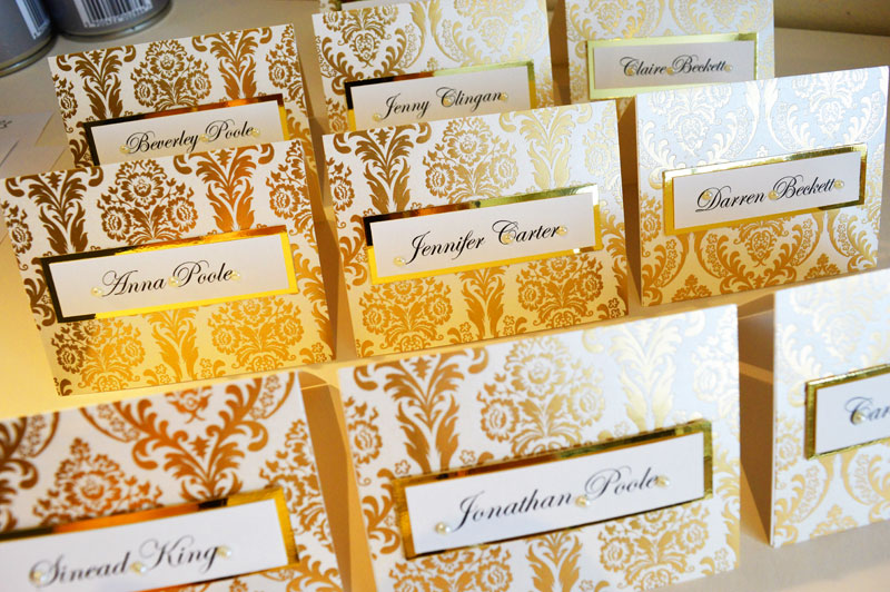 Opulent gold foil wedding stationery by Charlotte Designs