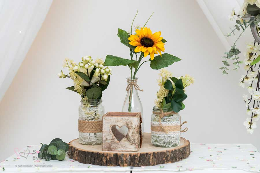 Sunflower display - Sophisticated Events
