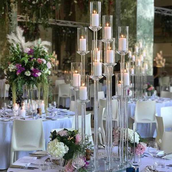Ghost Candelabra with 12 candle holders - Sophisticated Events
