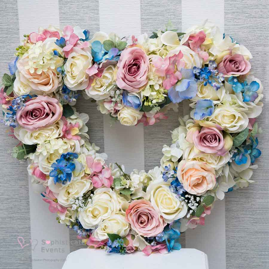 Beautiful floral heart by Sophisticated Events