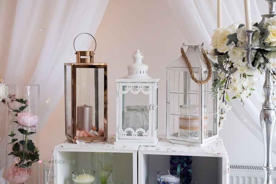 Lanterns table or aisle wedding decorations - Sophisticated Events