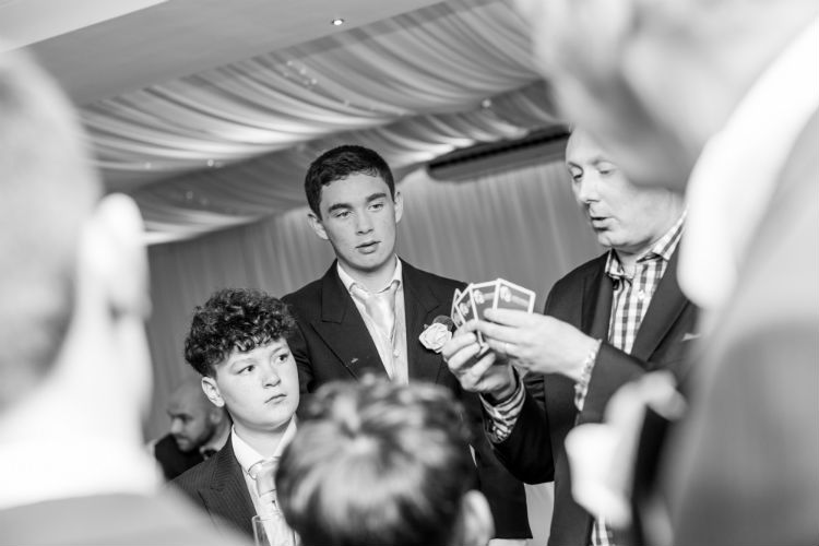 Leave your wedding guests spellbound by Darren's spectacular magic