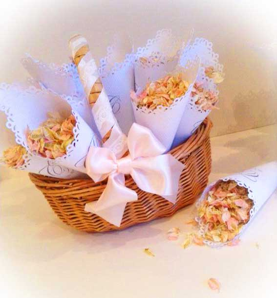 Finishing touches paper confetti basket