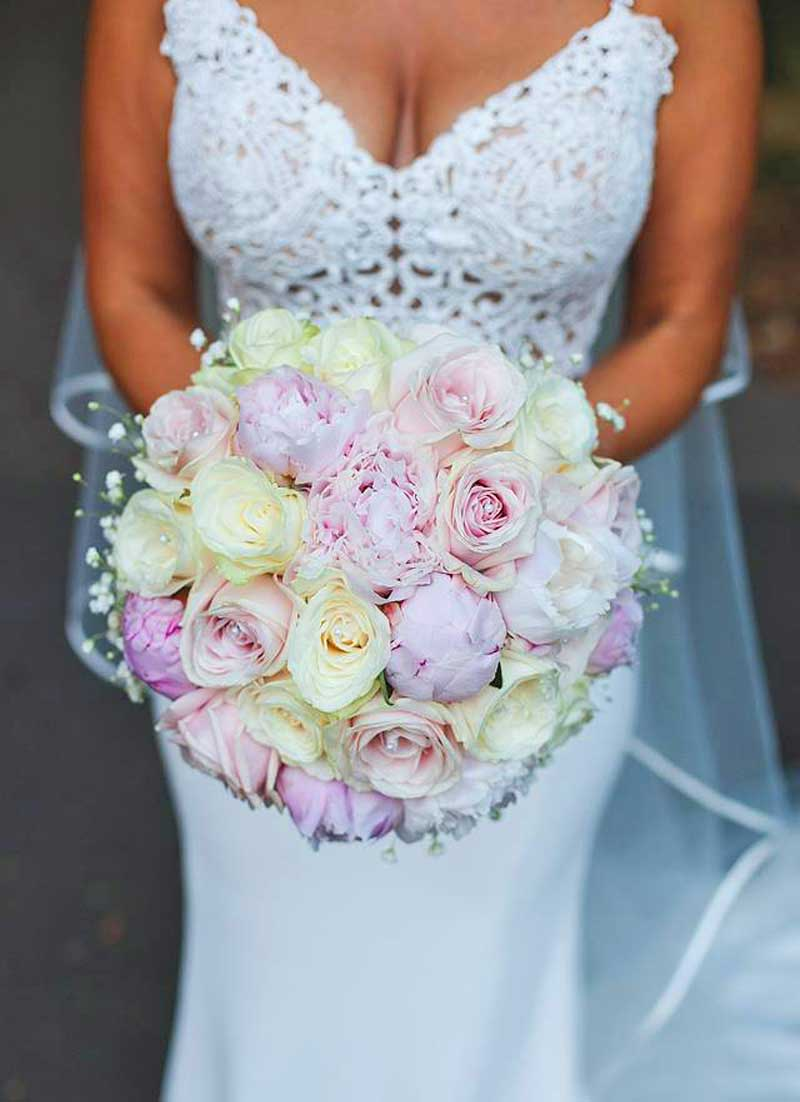 Beautiful pink bridal bouquet - Heaven Scent Floral Designs