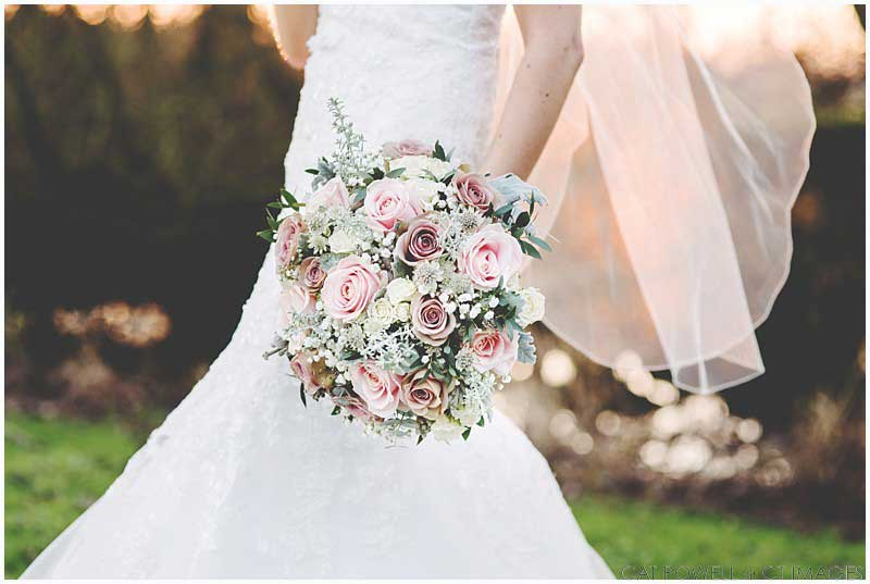 Pretty pink & white bridal bouquet by Heaven Scent Floral Designs