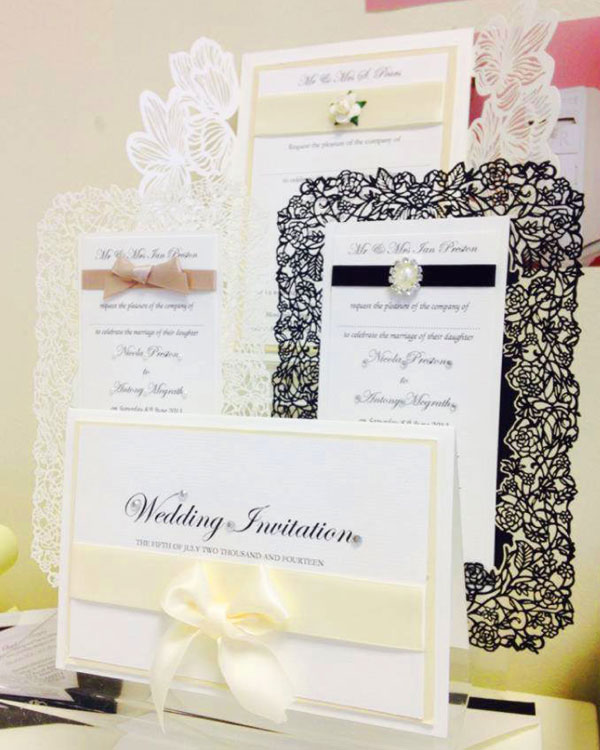 Wedding invitation designs by Charlotte Designs