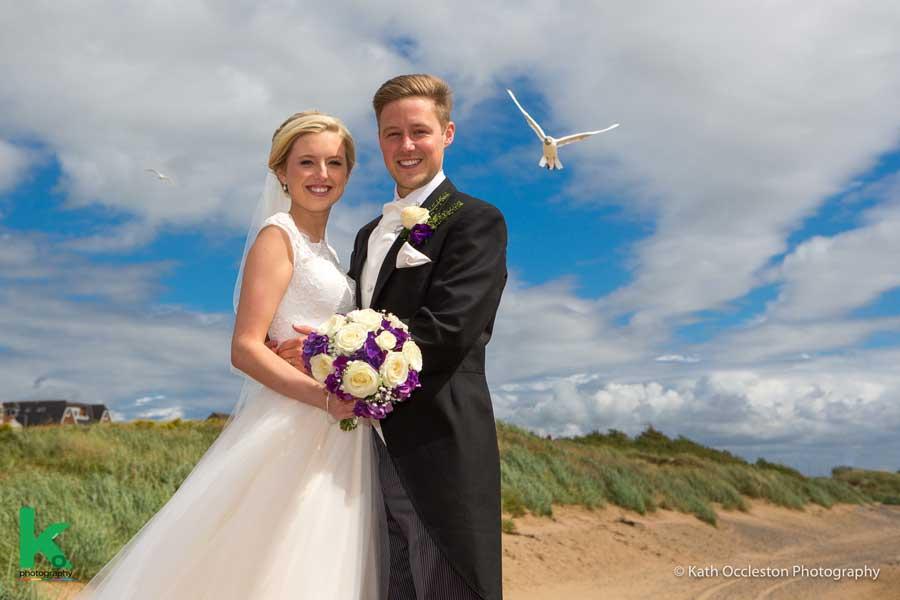 Lytham St Annes beach wedding photography - Kath Occleston Photography