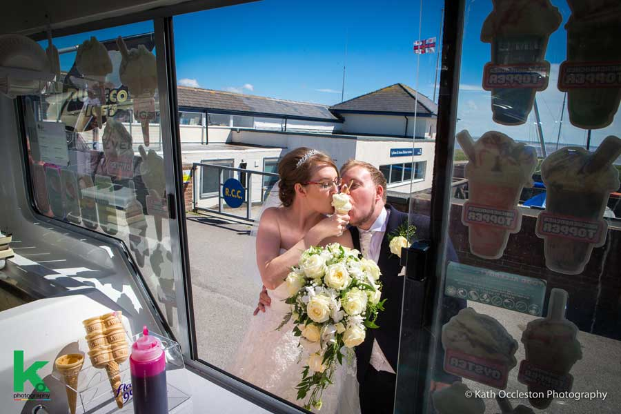 Lytham fun wedding photography - Kath Occleston Photography