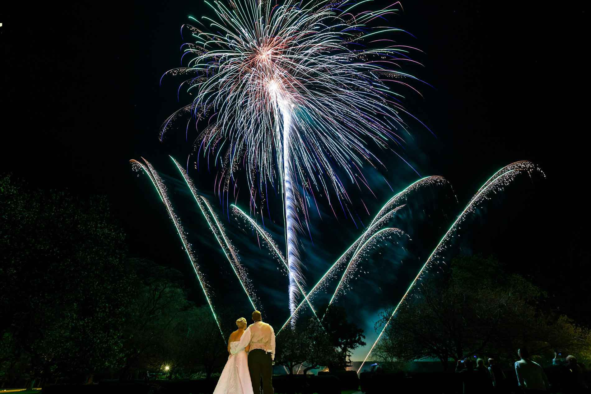 Stunning firework displays that end your wedding day with a spectacular bang