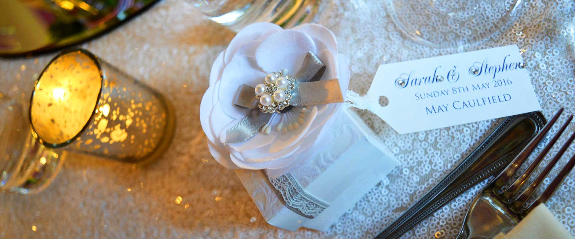 White peony flower favour box by Charlotte Designs